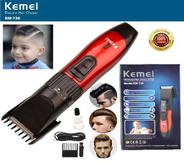 Kemei KM - 730 Electric Rechargeable Hair Clipper Trimmer