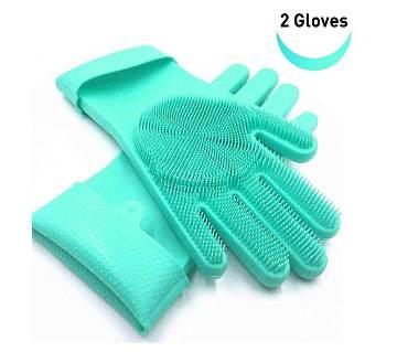 Silicone Washing Hand Gloves