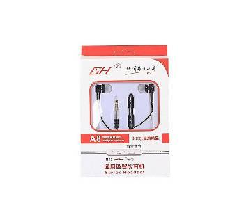 A8 In-Ear Earphone - Black