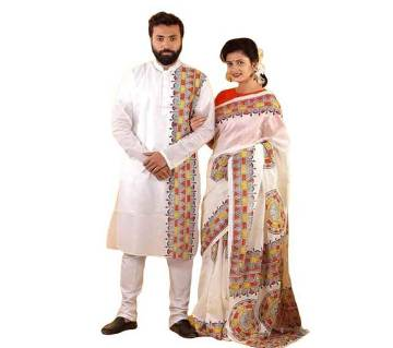 Matching Dress for Couple - White