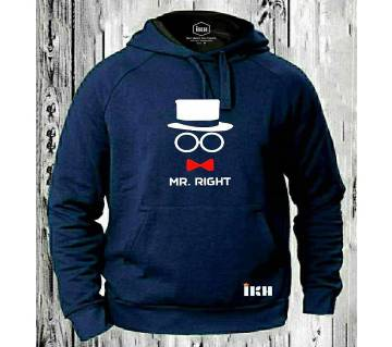Mr. Right Navy Blue Super Hoodie