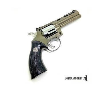 Revolver Metal Gas Lighter with Laser Pointer