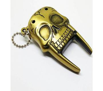 Brass Skeleton Metal Gas Lighter