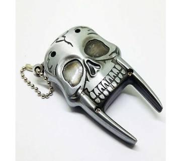 Silver Skeleton Metal Gas Lighter