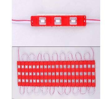 DC 12V Red 3 LED Module Waterproof High Glow Light Strip 5730 Decorative Light 20 Pcs