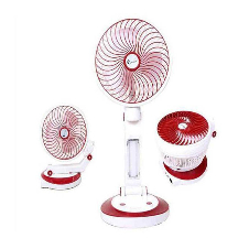 Supermoon Rechargeable Folding fan with Light