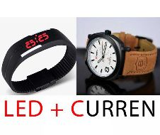 Curren+LED Watch Combo offer
