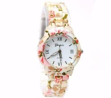 Floral Printed Ladies Wristwatch