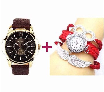 Bariho gents watch (copy)+ ladies wrist watch combo