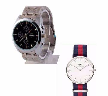 Tissot and DW Wrist Watch 2 in 1 Combo Offer