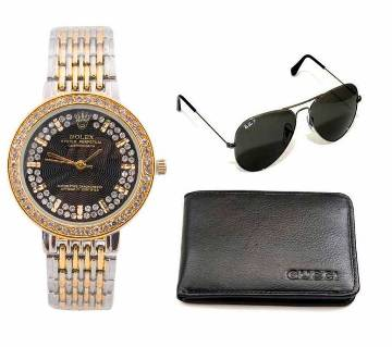 Ray-Ban (copy) sunglasses & Rolex (copy) watch & Wallet