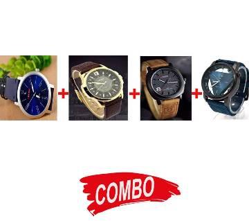 Fastrack gents watch (replica) + Titan Gents Watch (Copy) + Curren Gents Watch + Curren Gents Watch - Combo Offer