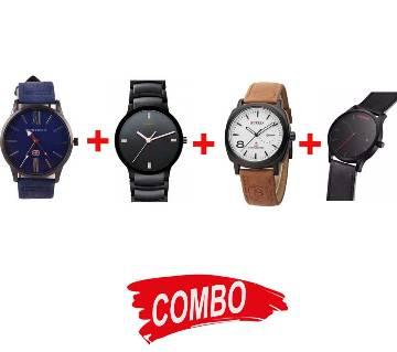 MF Gents Wrist watch (Copy) + MVMT Gent Wristwatch + Curren Watch + RADO Gents Watch (Copy) - Combo Offer