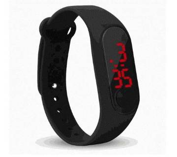 LED Sports Black Touch Watch