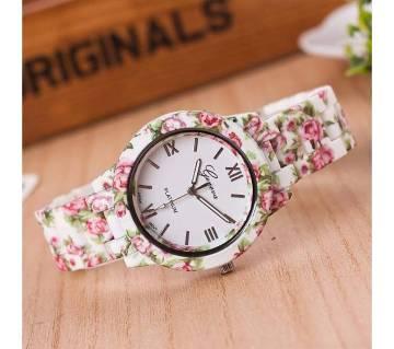 Floral Print Ladies Watch
