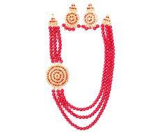 Boishaki Pearl necklace set