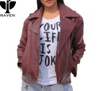 RAVEN WINE COLOR CLASSIC LADIES BIKER JACKET