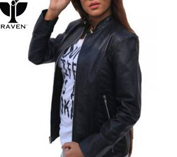RAVEN BLACK SIDE QUILTED CROPPED LADIES JACKET