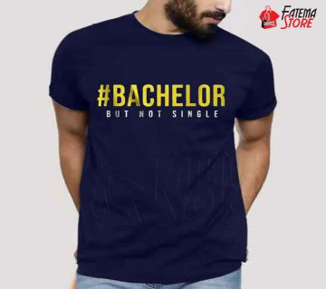 Mens Half Sleeve Cotton T-Shirt (#BACHELOR)