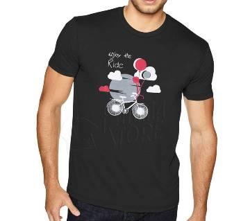 Enjoy The Ride-Half Sleeve Cotton T-Shirt For Men
