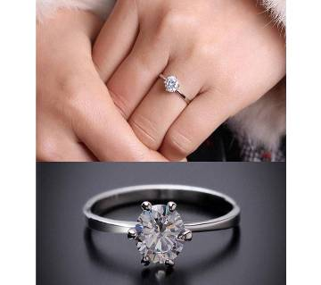 Silver Plated Stone Finger Ring for Women