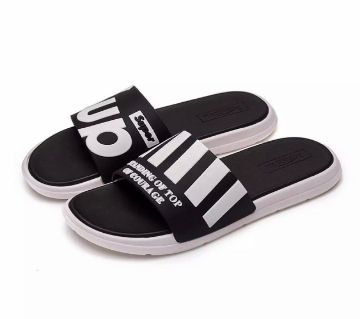 black,Rubber Slides For Men