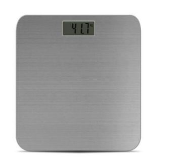 Metal body weight machine with room temperature indicator