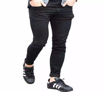 Black Colour Gebardine Pant For Man