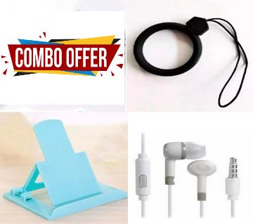 All Mobile Holder +Mi MI2 Earphone+Silicone Cricle Finger Ring For Mobile