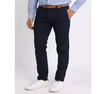 Navy Blue Gabardine Pant For Men