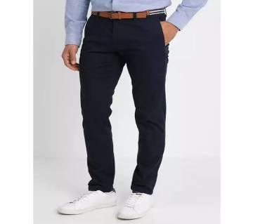 Navy blue Color Gabardine Pant For Men