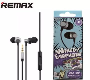 Remax RM512 In-Ear Wired Earphone Stereo Headset with For All Phones