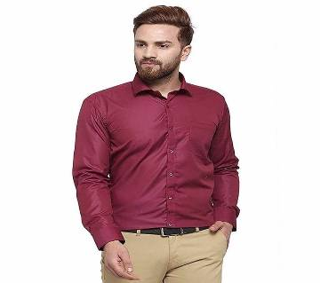 Maroon colour shirt formal for Man