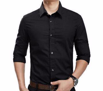 Black shirt formal for Man