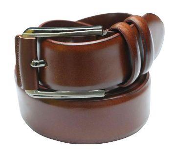 Brown leather belt for men.