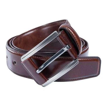 Artificial Leather chocolate colour belt for men