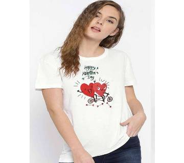 Ladies Round Neck Cotton T-Shirt