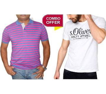 Gents Cotton Polo and T-shirt Combo Offer