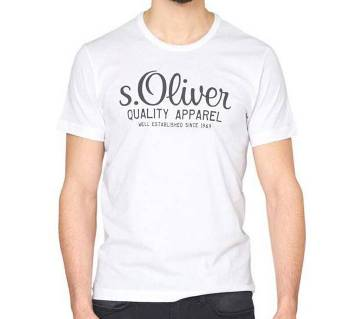 S. Oliver Printed Gents Round Neck Cotton T-shirt