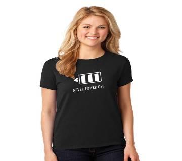 Ladies Round Neck Cotton T-Shirt