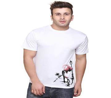 Round Neck Cotton T-Shirt For Men