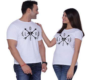 Love Arrow white couple T-Shirt