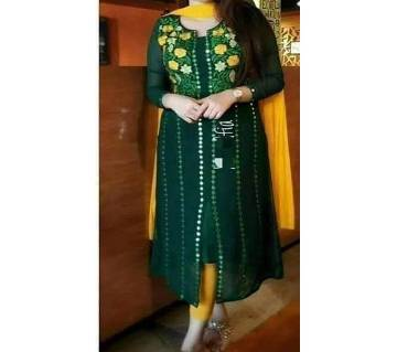 Unstitched SBlock Printed Cotton Salwar Kameez - Copy