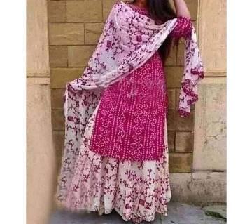 Unstitched  Printed Cotton Salwar Kameez