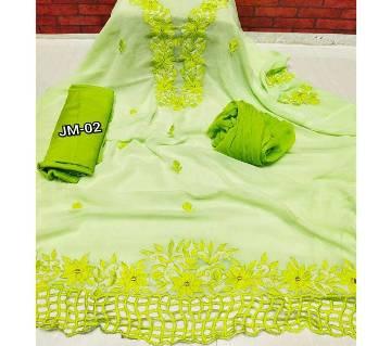 Unstitched Georgette Printed Cotton Salwar Kameez
