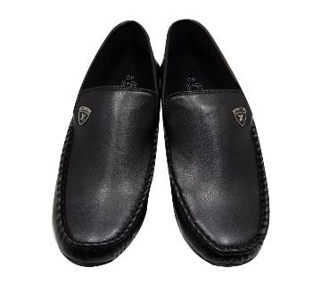 Leather Gents Loafer-Black