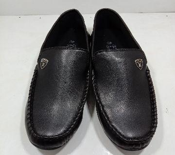 Leather Gents Loafer-Black