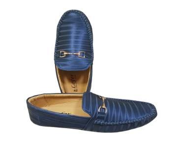 Navy Blue Loafer Shoes