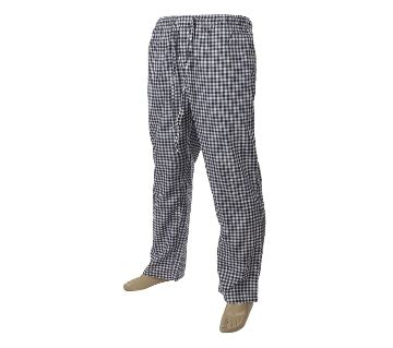 Mens extra relax soft cotton navy/white check pajama pants.