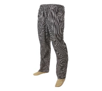 Mens extra relax soft cotton grey/white check pajama pants.